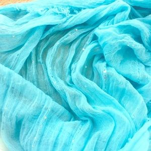Gorgeous Caribbean turquoise infinity scarf!!